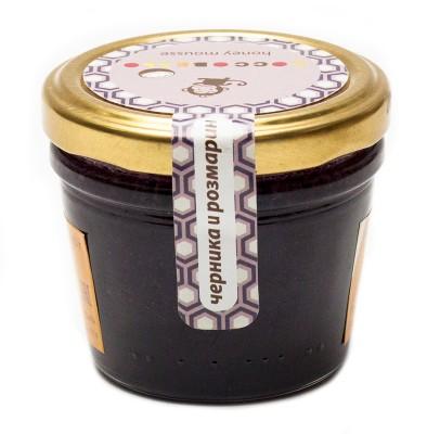 Медовый Мусс Cocco Bello Черника и Розмарин, 250 млМед, продукция пчеловодства<br>Натуральный цветочный мед, взбитый на специальном оборудовании с добавлением молотой черники и розмарина.<br> <br> Состав: мед, черника, розмарин.<br>