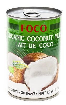 Органическое кокосовое молоко FOCO (жирность10-12%), 400 млНапитки<br>Органическое кокосовое молоко - экологически чистый продукт. Получают его из мякоти созревших кокосов, выращенных в условиях органического земледелия.<br> <br> Состав: Мякоть кокосового ореха, вода.<br>