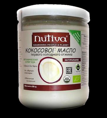 """Кокосовое масло, """"Nutiva"""", 500 г от Свой Путь"""