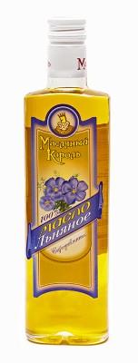 Масло льняное «Масляный король», 0.35 л