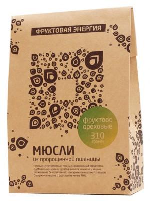 """Мюсли из пророщенной пшеницы фруктово-ореховые, """"Белое дерево"""", 310 г"""