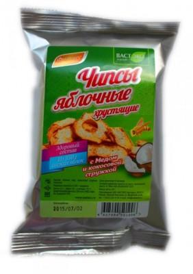 Яблочные чипсы хрустящие с мёдом и кокосовой стружкой, 25 г от Свой Путь