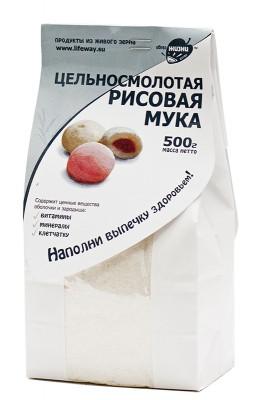 """Мука рисовая цельносмолотая, """"Образ Жизни"""", 500 г от Свой Путь"""