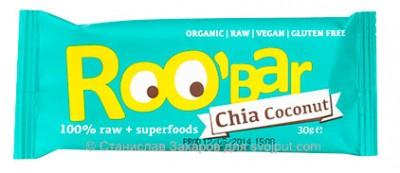 Батончик RooBar Chia  coconut (чиа и кокосовый орех) 30г