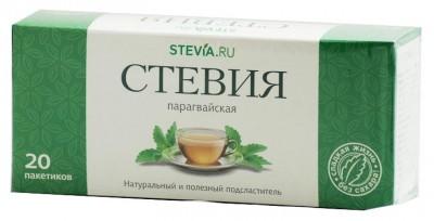 Стевия в чайных фильтр-пакетиках, 20 пакетиков