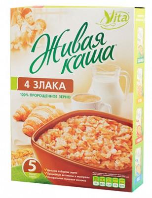 Живая каша Vita 4 злака из цельного пророщенного зерна, 300 г
