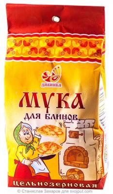 Мука для блинов пшеничная цельнозерновая (обойная), Дивинка, 700 г