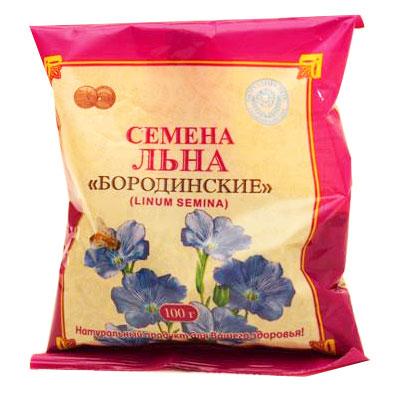 Семена льна Бородинские, 100 г