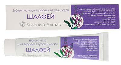 Зубная паста Шалфей, Зеленый Алтай, 75 г