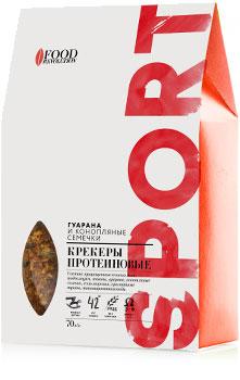 Крекеры протеиновые Гуарана и семена конопли, Food Revolution, 70 г