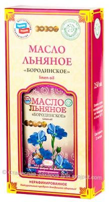 Масло льняное нерафинированное, «Бородинское», 0,25 л