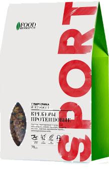 """Крекеры протеиновые Спирулина и кунжут, """"Food Revolution"""", 70 г от Свой Путь"""