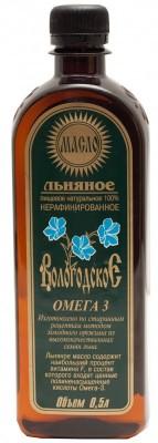 """Льняное масло """"Вологодское"""", Компас Здоровья, 500 мл от Свой Путь"""