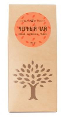 """Черный чай кэробом, клубникой и годжи, """"Royal Forest"""", 75 г от Свой Путь"""