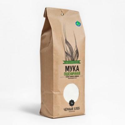 """Мука пшеничная особо тонкого помола БИО, """"Чёрный хлеб"""", 1 кг от Свой Путь"""