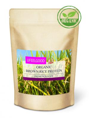 Протеиновый порошок из семян бурого риса, UFeelGood, 200 г