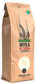 Мука из полбы цельнозерновая, БИО, Чёрный хлеб, 1 кг