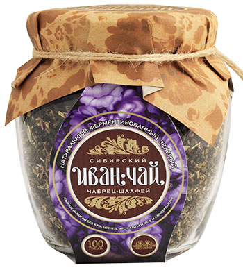 Сибирский иван-чай ферментированный с чабрецом и шалфеем, 100 г