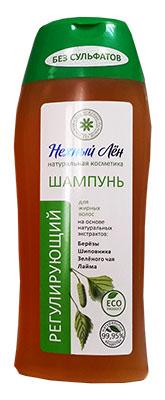Шампунь «Регулирующий» для жирных волос, «Нежный лён», 250 мл