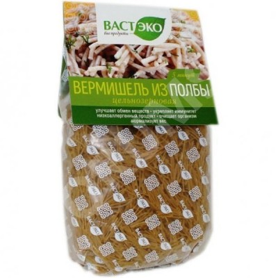 Полбяные макароны вермишель, «Вастэко», 400 г