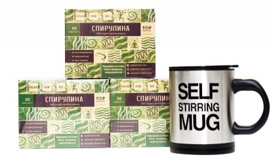 """Спирулина, """"TOP-spirulina"""", 3 упаковки + подарок от Свой Путь"""
