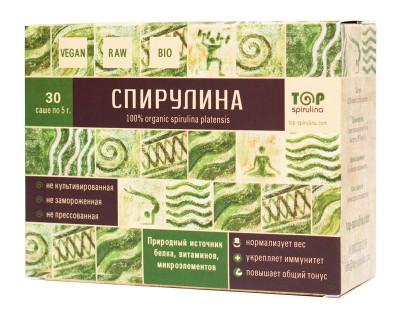 """Спирулина, """"TOP-spirulina"""", (30 пакетиков, по 5 гр) от Свой Путь"""