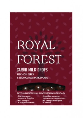 "Фундук в шоколаде из кэроба, ""Royal Forest"", 75 г"